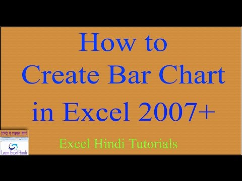 Learn Excel Hindi How to Create Bar Chart in Excel in Hindi 66