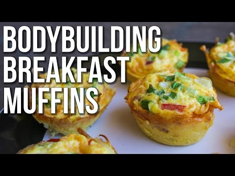 GRAB & GO BODYBUILDING BREAKFAST MUFFINS | Hashbrown, Bacon, Egg & Cheese