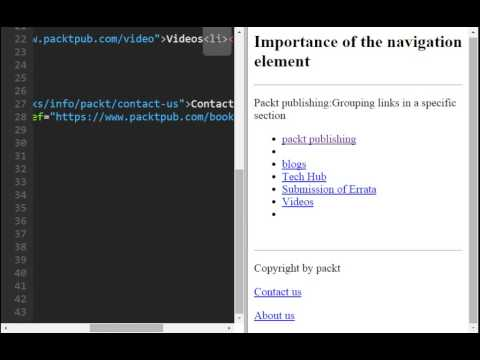 HEADER AND FOOTER IN HTML