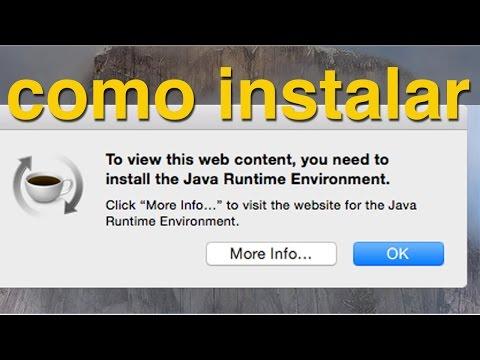 Como arreglar/ Instalar Java Runtime Environment en OSX Yosemite