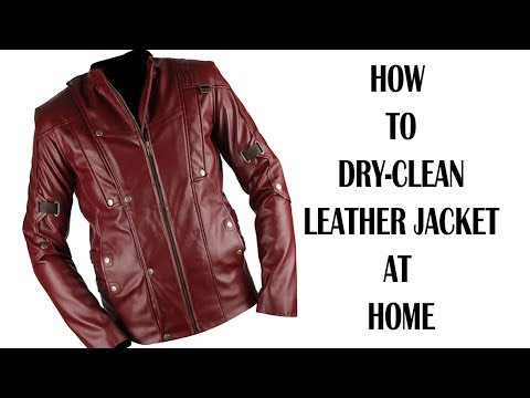 HOW TO DRY-CLEAN LEATHER JACKET AT HOME IN ENGLISH.