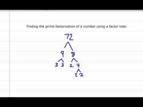 Finding the Prime Factorization of a Whole Number