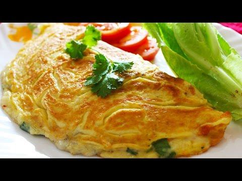Cheese Omelette | Healthy Egg Omelette - Breakfast Recipe | Kanak's Kitchen