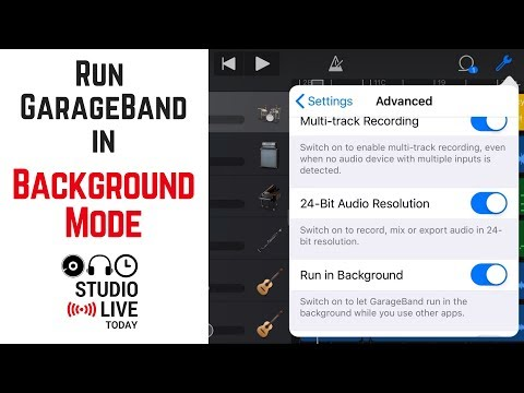 How to run GarageBand iOS in the background with other apps