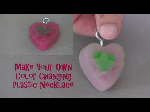 Make Your Own Mood Ring or Necklace, Color Changing Plastic Heart