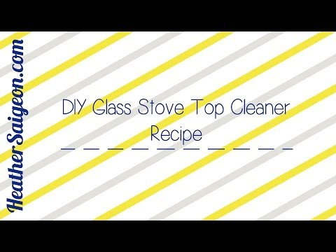 DIY Glass Stove Top Cleaner