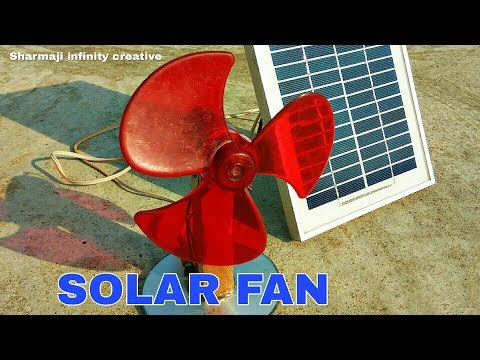 How to Make solar powered Fan