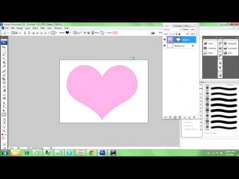 Put An Image Into Custom Shape Tutorial - Photoshop CS3