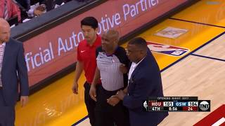 Warriors Vs Rockets | Referee Injured Clip!!