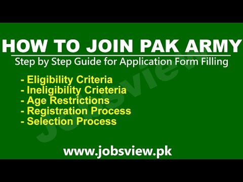 How to Join Pak Army After Matric FSC Inter as an Officer Soldier - JobsView pk