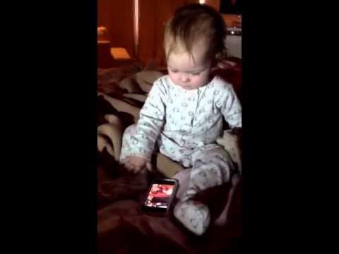 iPhone genius at 15 months!!