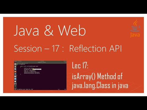 Reflection API in Java | #17 | isArray() Method of java.lang.Class in java