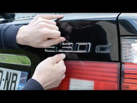 Comment enlever les badges / monogrammes / autocollants sur votre voiture