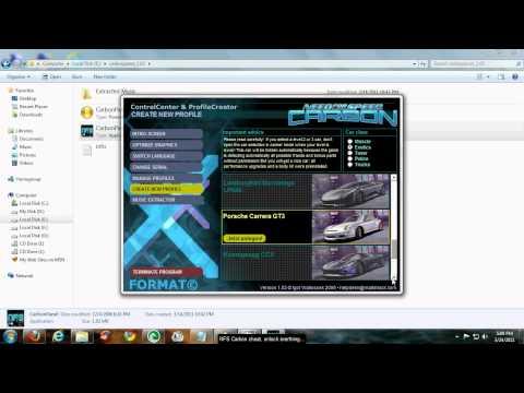 NFS Carbon Cheat-Unlock BMW M3 and unlimited cash