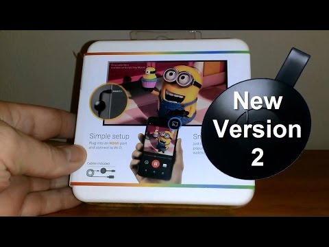 How to install Chromecast on TV, Unboxing, Setup & Review - NEW DISC Version - Replace Cable TV