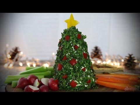 How to Make a Christmas Tree Cheeseball | Christmas Recipes | Allrecipes.com
