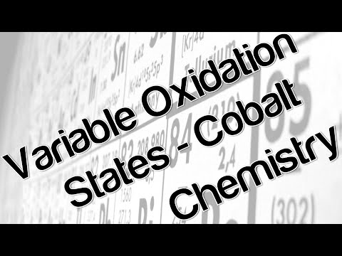 Variable oxidation states - Cobalt Chemistry