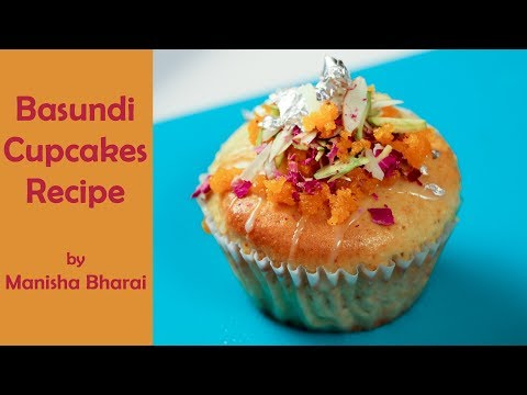 Basundi Cupcake Christmas Recipe From Premix  Indian Sweet Dessert Mithai बासुंदी कपकेक रेसिपी