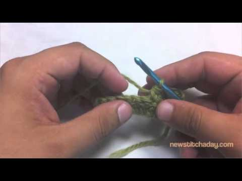 How to Crochet: Double Crochet Two Together Decrease (dc2tog)