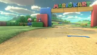 Mario Kart 8-SNES Donut Plains 3: Toadette VS Wario