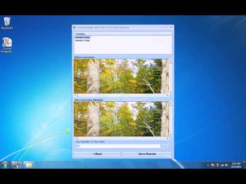 How To Use Convert Multiple BMP Files To JPG Files Software