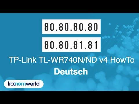 Freenom World TP-Link TL-WR740N/ND v4 HowTo (German)