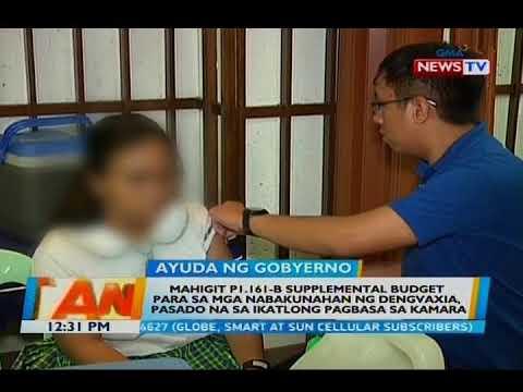 Supplemental budget para sa mga nabakunahan ng Dengvaxia, pasado sa ikatlong pagbasa sa Kamara