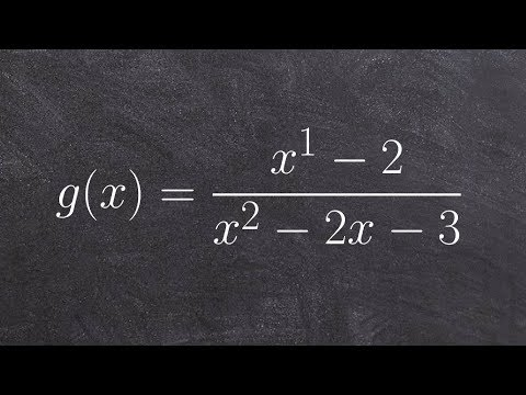 Pre-Calculus - How to find the x and y intercepts of a rational function, f(x)=(x-2)/(x^2 -2x-3)