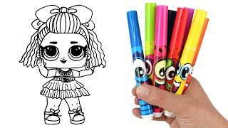 Download How to Draw LOL Doll 80s BB | LOL Surprise Under Wraps Doll Drawing and Coloring for Kids Video