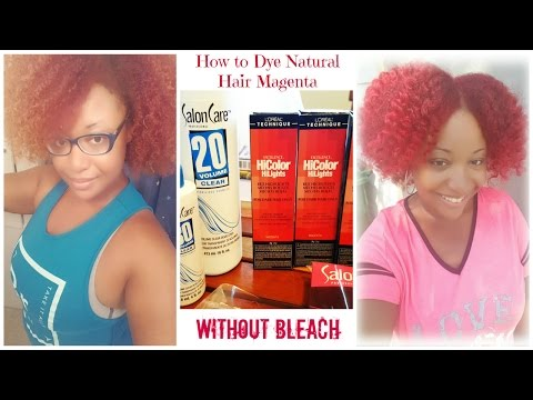 How to Dye Natural Thick Hair Red Without Bleach | L'Oreal  Excellence HiColor HiLites