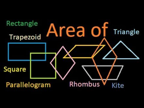 Area of Rectangle, Square, Parallelogram, Triangle, Trapezoid, Rhombus and Kite : Derivation | Proof