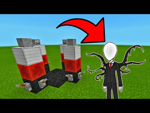How to make a Slenderman Spawner in Minecraft Pocket Edition (MCPE)