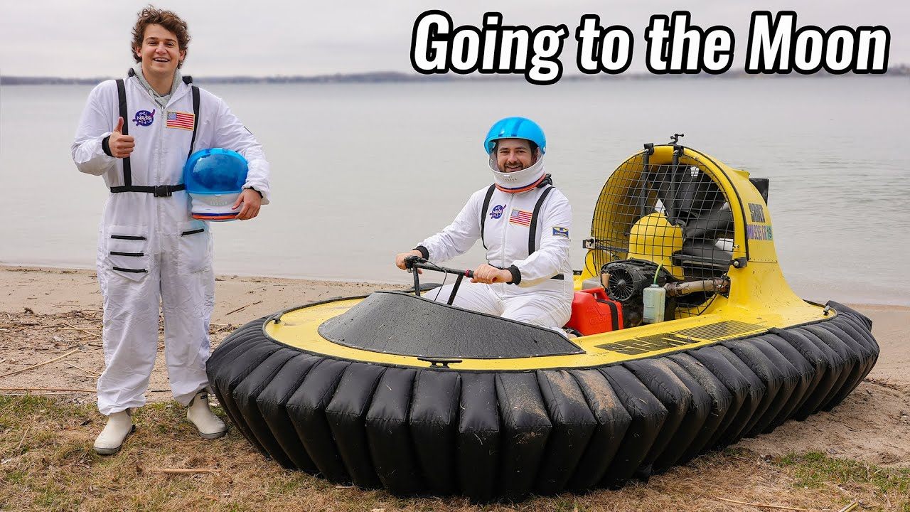 Taking our Hovercraft to the Moon