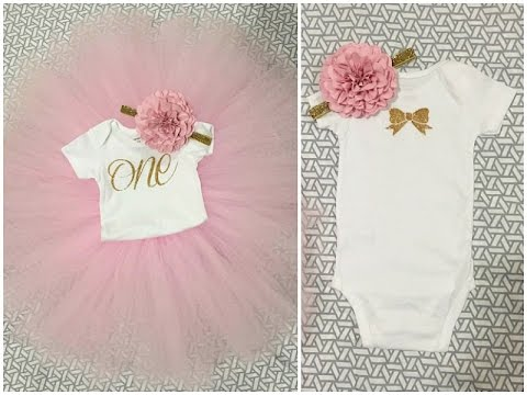 TUTORIAL: DIY 1st Birthday Onesie & Tutu Outfit