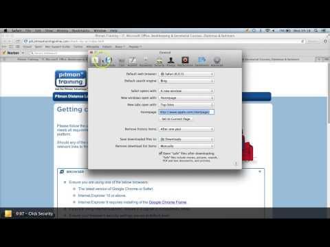 Browser Security Settings - Safari