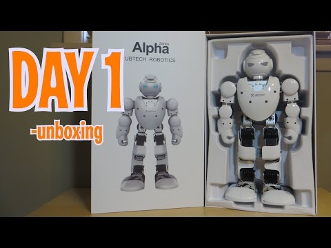 Day 1 - Unboxing ALPHA 1S  Humanoid Robot Review - Intelligent Robot like Cozmo!