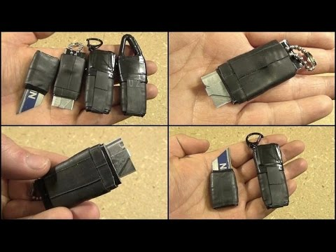 DIY Mini Utility Knives, For Keychain, EDC, or Survival Kits