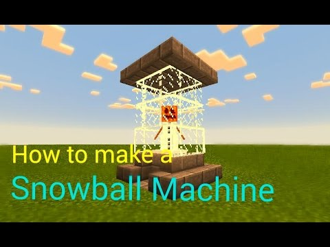 How to make a Snowball Machine | Minecraft PE