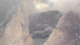 Detailed view of Extrusion Lobe collapse, Sinabung Volcano