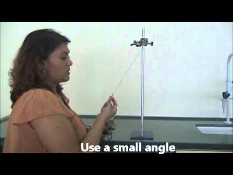 Finding Period of Pendulum Expt