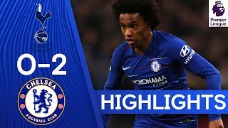 Tottenham 0-2 Chelsea   Willian Haunts Spurs With Double!  🔥  Highlights