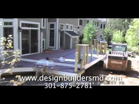 Construction Timelapse: Curved Deck & Stone Patio in Bethesda