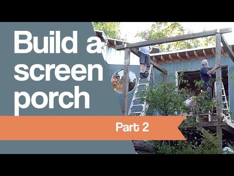 Building a screen porch part 2