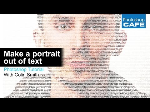 how to make text portraits in photoshop