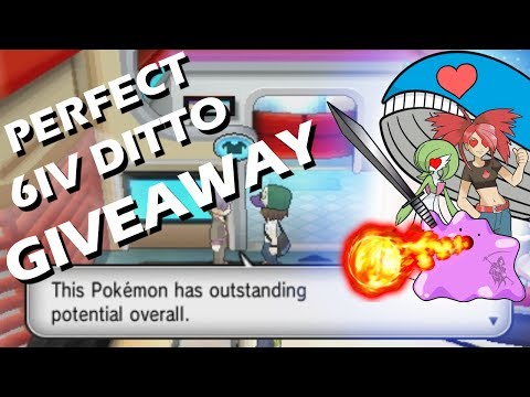 (CLOSED) Pokemon X and Y GIVEAWAY - Perfect 6IV Ditto メタモン