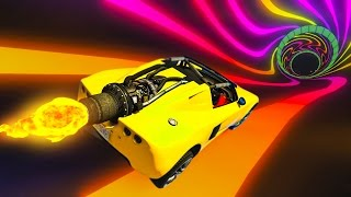 RACING IN LIGHT TUNNELS! - GTA 5 Funny Moments #671