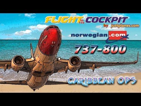 Norwegian 737-800 Cockpit