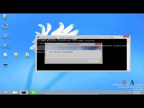 Compress A Folder via command Line using VBscript