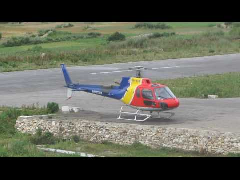 Helicopter Take off from Simkot Airport for Mansarovar.