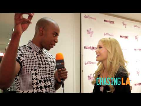 Olivia Holt Chats w/ Chasing LA at Wallflower Jeans Event and Signs with Hollywood Records!